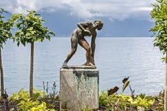 Baigneuse,雕塑亚瑟Schlageter 免版税库存图片