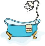 Baignoire avec la douche illustration stock