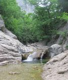 Baignoire de la jeunesse du canyon grand de la Crimée Photographie stock libre de droits