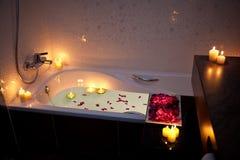 Baignoire romantique Images stock