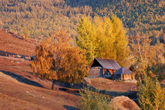 Baihaba Village. Baihaba is the most north-western village of China, bordering Kazakhstan Stock Image