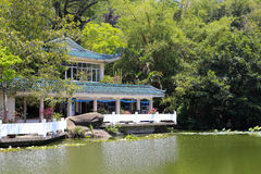 Baihuating buliding of wanshi botanical garden Stock Photography