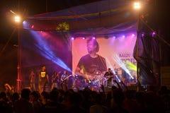 Baiju Dharmajan konsert, syndikat Royaltyfri Fotografi