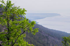Baikal湖全景  免版税库存照片