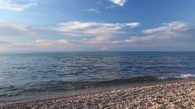 Baikal湖在晴朗的夏日 股票录像