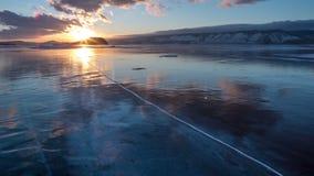 Baikal湖看法  包括的雪 股票视频