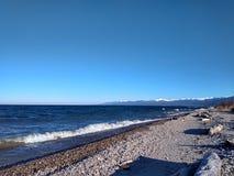 Baikal é sem falhas em outubro fotografia de stock