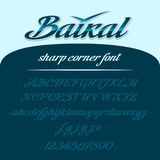 Baikal εγγραφή αλφάβητου abc ζωηρόχρωμο διάνυσμα ύφους τύπων χαρακτήρων σχεδίου αλφάβητου Στοκ Φωτογραφία