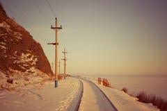 Baikal σιδηρόδρομος Στοκ φωτογραφία με δικαίωμα ελεύθερης χρήσης