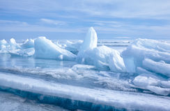 Baikal το χειμώνα στοκ φωτογραφία