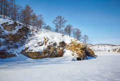 Baikal το χειμώνα Στοκ Εικόνα