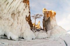 baikal χειμώνας Στοκ Φωτογραφία