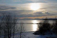 Baikal? 在所有它的荣耀在冬天 库存图片