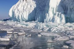 Χειμερινό παραμύθι στη λίμνη Baikal, ανατολική Σιβηρία στοκ φωτογραφίες με δικαίωμα ελεύθερης χρήσης