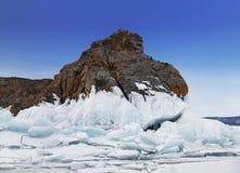 Χειμερινό παραμύθι στη λίμνη Baikal, ανατολική Σιβηρία στοκ φωτογραφία με δικαίωμα ελεύθερης χρήσης
