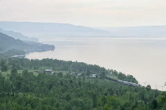 Baikal-Amur railway Royalty Free Stock Images
