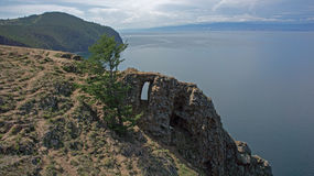 Baikal, Ansicht vom Umhang Khoboy Lizenzfreie Stockfotografie