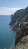 Baikal, Ansicht vom Umhang Khoboy Stockbild