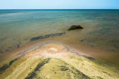 baikal Auf einer Sandbank Lizenzfreie Stockbilder