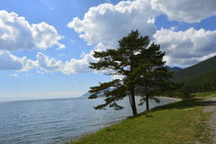 Baikal, blisko wioski Bolshoe Goloustnoe Otwiera Baikal Obrazy Stock