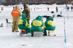 Baikal che pesca 2012 Immagini Stock Libere da Diritti