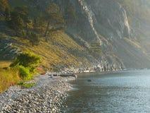 Baikal in de ochtend Stock Fotografie