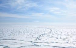 Baikal in de winter royalty-vrije stock foto
