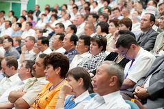 Baikal economic forum. ULAN-UDE, RUSSIA - JULY 9: The Baikal economic forum is allocated to discuss the role of Siberia and the Far East in global development royalty free stock image