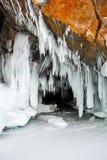 Baikal-Eiszapfen Stockfoto