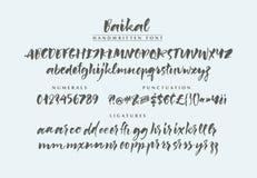 Baikal handskriven borstestilsort vektor illustrationer
