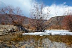 Baikal i vinter royaltyfri bild