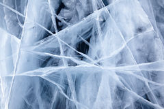 Baikal ice texture Royalty Free Stock Photo