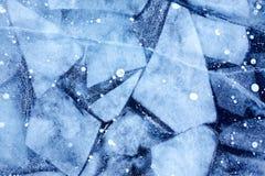 Baikal ice texture Stock Images