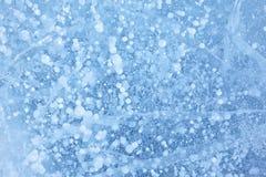 Baikal ice texture. Texture of ice of Baikal lake in Siberia Royalty Free Stock Photos
