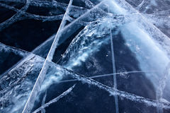 Baikal ice texture Royalty Free Stock Photography