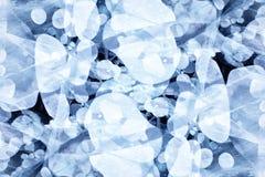 Baikal ice texture Royalty Free Stock Photography