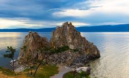 baikal jeziora skały shamanka obrazy royalty free