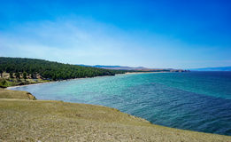 Baikal jeziora zatoka Obrazy Stock