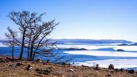 baikal jezioro Russia Kwiecień 27th Obrazy Stock