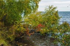 Baikal jezioro w jesieni Zdjęcie Stock