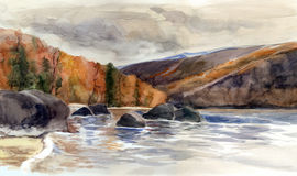 baikal lake stock illustrationer