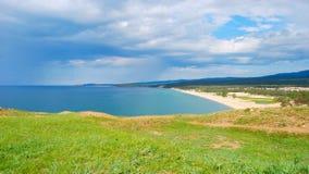 Baikal lake. Mountains on the horizon Royalty Free Stock Photos