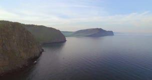The shore of the Baikal lake stock footage