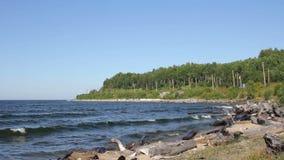 Baikal lake landscape. Olkhon island stock video