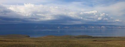 Baikal lake landscape. View from olhon isle Stock Image