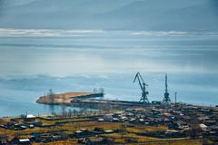 Baikal lake, overlooking the town of Kultuk, Russia Royalty Free Stock Image