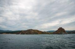 baikal lake russia Royaltyfria Bilder
