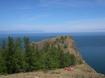 Baikal lake, Russia. Open spaces. View from the mountain. Lake Baikal is the deepest lake in the World. Stock Photos