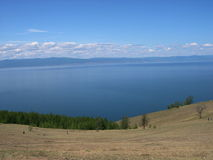Baikal lake, Russia. Open spaces. View from the mountain. Lake Baikal is the deepest lake in the World. Stock Images