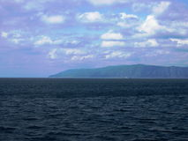 Baikal lake, Russia. Open spaces. View from the water. Lake Baikal is the deepest lake in the World. Stock Image